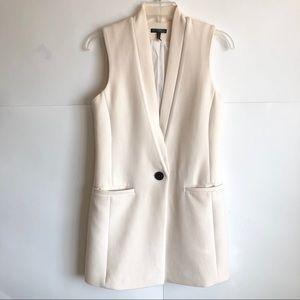 Intermix Ivory Thick Sleeveless Blazer Vest P/XS